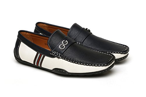 Noir Hommes Brun GG Créateur DécontractéÉtéà Enfiler Mocassin Conduite Chaussures Mode UK taille Bleu/Blanc