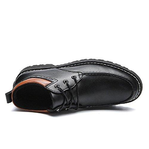 Uomo Inverno Il nuovo Tempo libero Scarpe di pelle Tenere caldo Scarpe casual Plus cashmere Stivali Attività commerciale Vestito formale Scarpe euro DIMENSIONE 39-44 Black