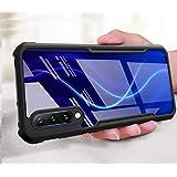 MobiTussion® Shockproof Transparent Slim Back Cover for Samsung A50 / A50s / A30s (Black)