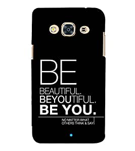 Be You 3D Hard Polycarbonate Designer Back Case Cover for Samsung Galaxy J3 Pro 2016