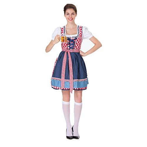 Deutsche Traditionelle Kostüm Bilder - QQWE Oktoberfest Frauen Sexy Bier Mädchen Kostüm, Oktoberfest Deutsches Kostüm, Traditionelles Dirndl,Red-XL