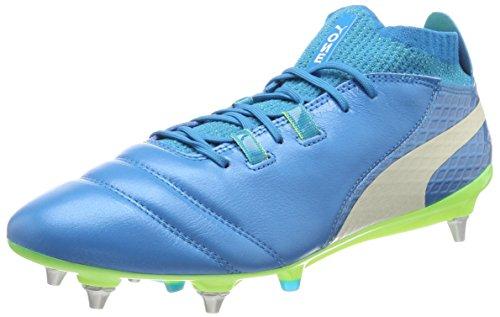 Puma Herren ONE 17.1 Mx SG Fußballschuhe, Blau (Atomic Blue- White-Safety Yellow), 44 EU (Puma Fußballschuh Sg)