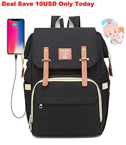 0b195bf4829a Baby Changing Bag Backpack Upgrade USB Port Large Capacity for Twins Diaper  Nappy Rucksack Backpacks Bags