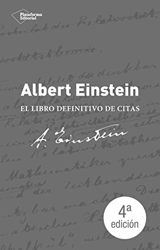 Portada del libro Albert Einstein. El Libro De Citas Definitivo