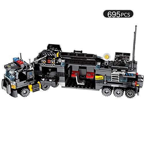 Jimuwangzi giocattoli 695pcs 8in1 militare comando camion swat soldati building blocks per bambini compatibili lego polizia fai da te mattoni