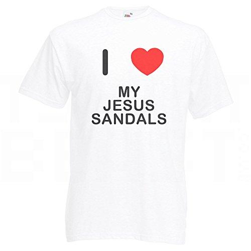 I Love My Jesus Sandals - T-Shirt Weiß