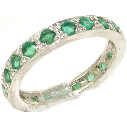 Anello Donna in Argento 925 Sterling con Smeraldo 1 carati - Taglia - Altro Taglie disponibili