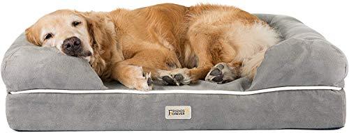 SCM Orthopädisches Hundebett Tierbett Memory Foam Hundesofa Dog Bed Premium Prestige Edition Hundekorb gelenkschonend, weich (50 x 63 cm)