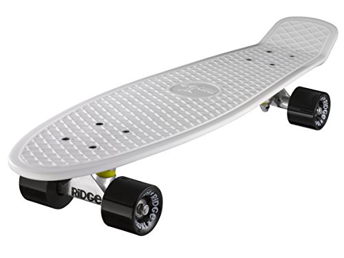 Ridge Skateboard Big Brother Nickel 69 cm Mini Cruiser, weiß/schwarz