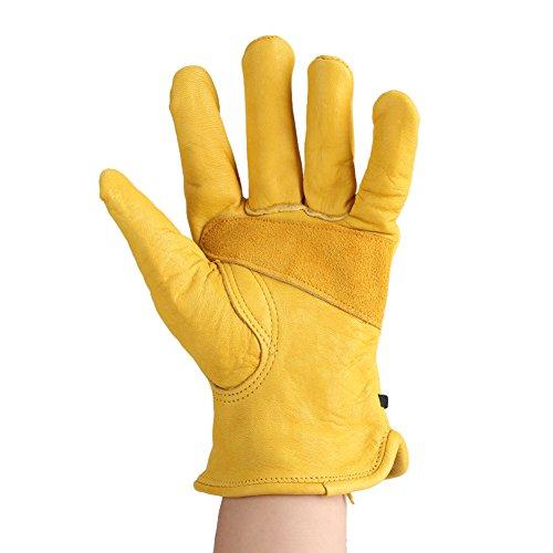 Fdit guanti antitaglio guanti da giardinaggio strumento di giardino lattice professionali guanti da lavoro di sicurezza cucina resistenti al taglio per mani e giardinaggio taglio 1 paio, giallo(l)