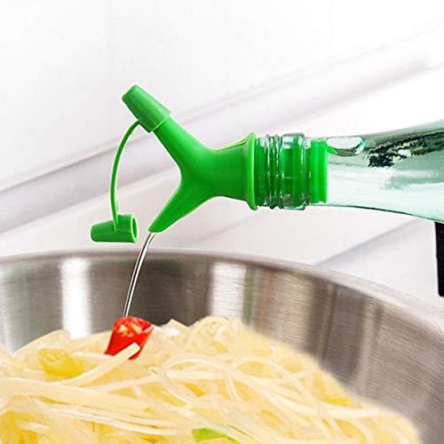 Casavidas 1 x praktische Sojasauce Weinflasche mit Mund Down Doppelkorken Stopper umgekehrt Nippel Würzflüssigkeit
