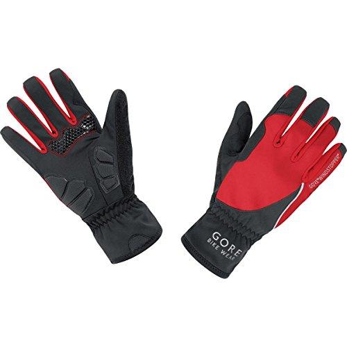 GORE WEAR Damen Handschuhe Power Windstopper Soft Shell, Black/Red, 6