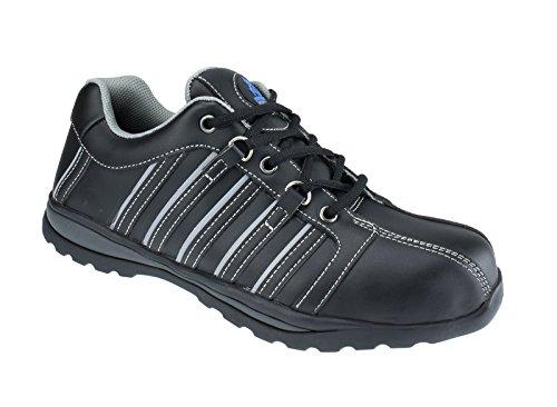 Männer Leder Sicherheitsschuhe Stiefel wasserdichtes Leder mit Stahl oder Composite-Zehenkappe, durchstoßfeste Zwischensohle, zum Wandern, Sport, Bau, Straßenarbeiter (11, Speedster) Composite Toe Oxford