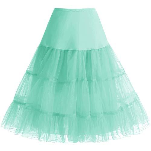 bbonlinedress Organza 50s Vintage Rockabilly Petticoat Underskirt Mint M