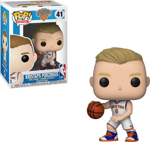 Funko Pop Kristaps Porzingis New York Knicks camiseta blanca (NBA 41) Funko Pop NBA