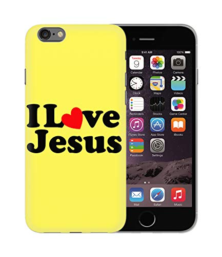 CowallsBen I Love Jesus Quote Faith God_BEN5164 Protective Phone Mobile Smartphone Case Cover Handyhulle Handyhülle Schutz Hard Plastic for iPhone 7 8 Funny