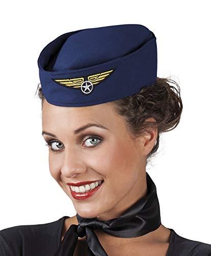 Marco Porta Stewardess Schiffchen Hut Kostümzubehör Fasching