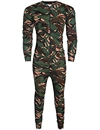 Unbranded Mens Camouflage Onesie All In One Set Baselayer Zip Body Jumpsuit Ski Playsuits S XXL