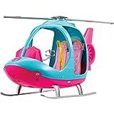 Barbie Voyage Hélicoptère rose et bleu pour poupée avec hélice rotative, jouet pour enfant, FWY29