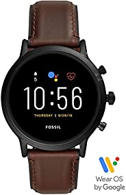 Fossil The Carlyle Hr Men's Multicolor Dial Leather Digital Smartwatch - FTW