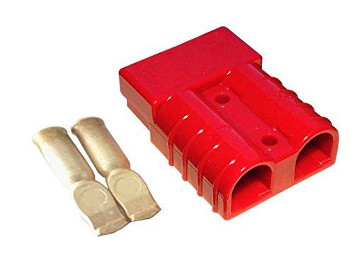 Conjunto de conectores para carretilla elevadora conectores del cable de carga de la batería 175A 35 mm², cable de conexión rojo
