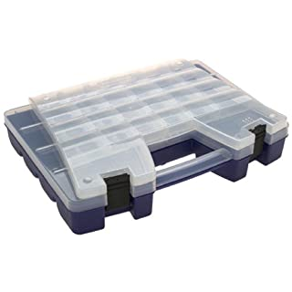 Akro-Mils 6215 Plastic Portable Hardware and Craft Parts Organizer, Regular, Blue