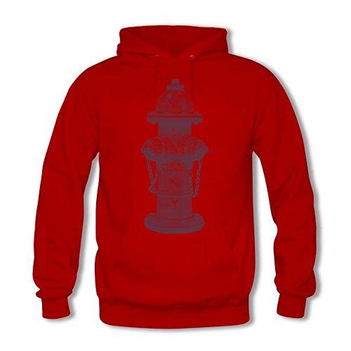 Women's Pullover Casual Fire Hydrant Pattern Hooded Sweatshirt
