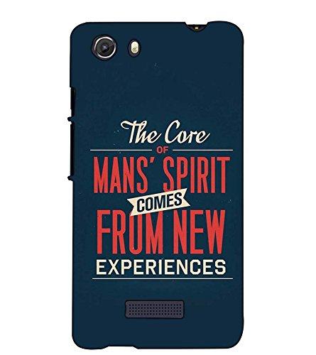 Fuson Designer Back Case Cover for Micromax Unite 3 Q372 :: Micromax Q372 Unite 3 (The Core Of Mans Spirit)  available at amazon for Rs.397