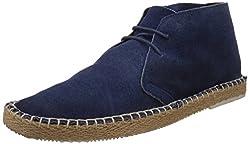 Franco Leone Mens Blue Leather Boots - 9 UK/India (43 EU)