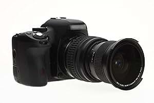 Objectif Fisheye 0,35X avec Macro pour NikonD7200 D7100 D7000 D5500 D5300 D5200 D5100 D5000 D3400 D3300 D3200 D3100 D3000 D810 D800 D750 D710 D700 D610 D600 D500 D300 D300S D200 D100 D90 D80 D70 D60 D40 D4 D3