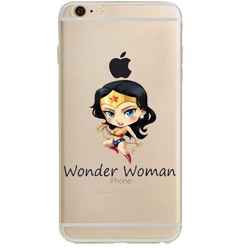 Batman, Catwoman, Joker, Harley Quinn, Iron Man, Captain America, Spider Man, The Hulk, Thor, Deadpool Jelly Clear Case für Apple iPhone 6/iPhone 6S (11,9cm), Wonder Woman -
