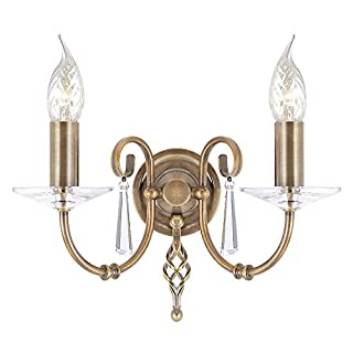 Aegean 2 Light Candle Lights Finish: Aged Brass