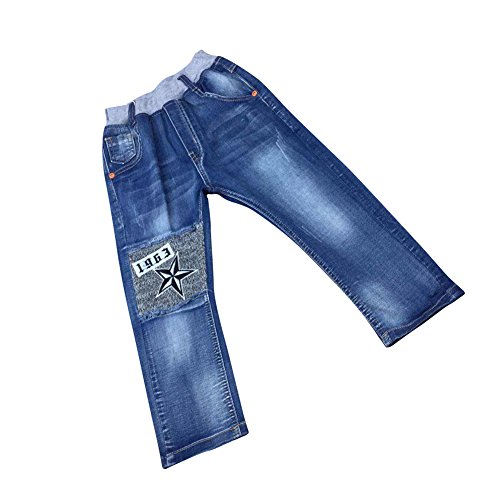 Zier Bambini Lungo Del Denim Dei Jeans Mutanda Casuale Pull Up Elastico Regolabile 88006