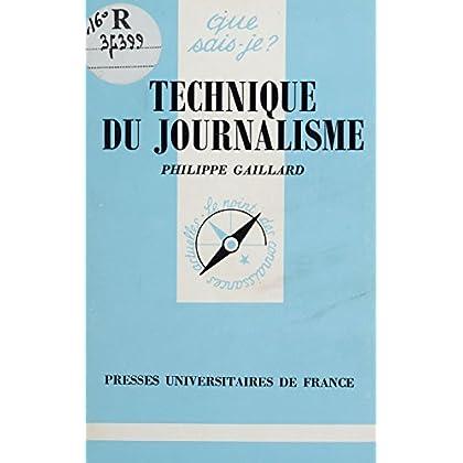 Technique du journalisme (Que sais-je ? t. 1429)