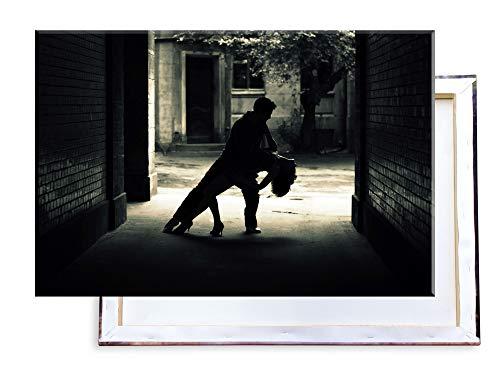 Unified Distribution Tanzendes Paar - 120x80 cm - Bilder & Kunstdrucke fertig auf Leinwand aufgespannt und in erstklassiger Druckqualität