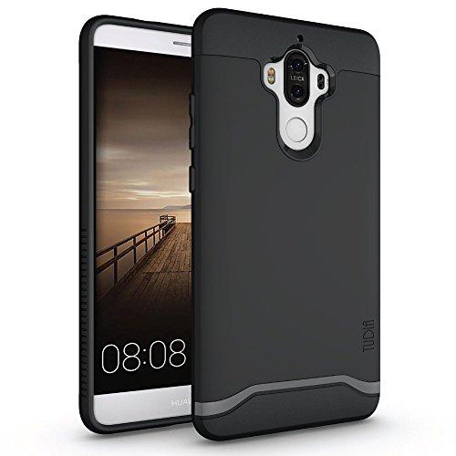 TUDIA Huawei Mate 9 Funda, Caja Protectora Merge Tarea Pesada Protección Extreme de Doble Capa para Huawei Mate 9 (Negro Mate)