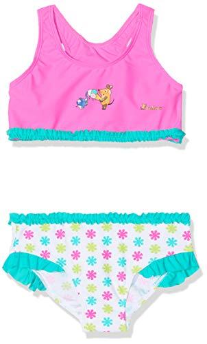 Playshoes DIE Maus Mädchen UV-Schutz Bikini DIE Maus Blumen Badebekleidungsset, Mehrfarbig (Weiß/Rosa 586), 122/128