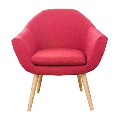 LYXPUZI Esszimmerstühle aus Holz Holzbeine und bequemer gepolsterter Sitz Home Office Design Stuhl Esszimmerstuhl Lounge-Stühle (Color : D) - Farbton Cotton Liner