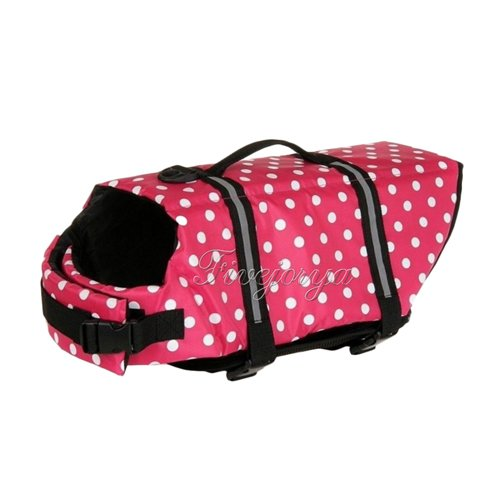 Generic Pink Dots, S : Dog Life Jacket & Pet Safety Vest Preserver Swimwear Preserver Aid Buoyancy Supply New Top Quality LIFE SAVING Jacket