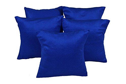 meSleep Deep Blue Velvet Cushion Cover (12x12)