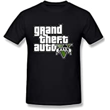 Sixtion BoAlyn Men's Gta5 Grand Theft Auto V T-shirt Black