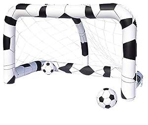 Bestway But de football gonflable 213 x 122 x 137 cm avec 2 ballons 36 cm