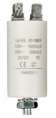 Moteur condensateurs avec 6,3mm gaine/terminaux à souder, 1… 60µF