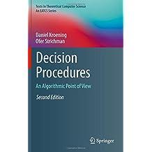 Decision Procedures : An Algorithmic Point of View