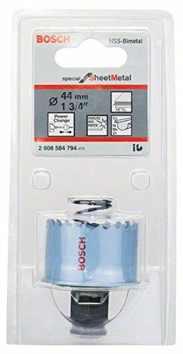 Bosch Professional Lochsäge (für Metallblech, Durchmesser: 44 mm, Zubehör für Akkuschrauber)