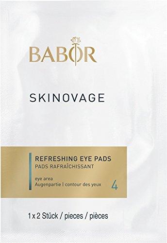 BABOR SKINOVAGE Refreshing Eye Pads, feuchtigkeitsspendende Augenpads, Frische-Kick für müde Augen, lindert Augenfalten, ideal für unterwegs, 5 x 2 Stück