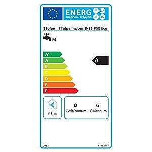 TTulpe Indoor B11 P50 Eco – Calentador de gas propano (1,5 V), color blanco
