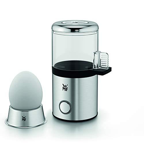 WMF KÜCHENminis 1-Ei-Eierkocher My Egg, mit Eierbecher, Cromargan matt, platzsparend, mit Härtegradeinstellung, 56 W