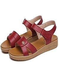 con Suole morbide Le Donne Incinte Flat Sandals Anti-Skid Semplice Piatto Sandali,34 EU, Nero