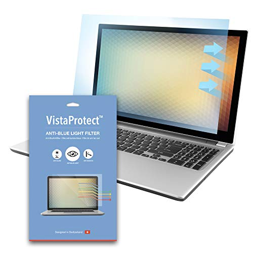 VistaProtect Filtro Anti Luce Blu Premium per Schermo Laptop PC Rimovibile